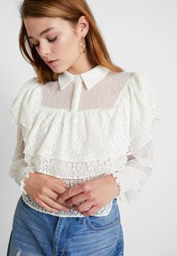Lost Ink - MIX AND FRILL DETAIL - Blouse - ivory - 4