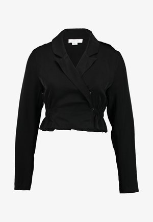 ROUCHED DETAIL TAILORED BLOUSE - Camicetta - black
