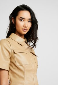 Lost Ink - SHIRT - Button-down blouse - beige - 4