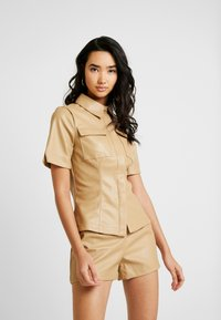 Lost Ink - SHIRT - Button-down blouse - beige - 0