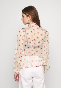 Lost Ink - RUFFLE FRONT PRINTED BLOUSE - Bluzka - multi - 2