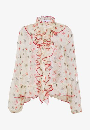 RUFFLE FRONT PRINTED BLOUSE - Bluser - multi