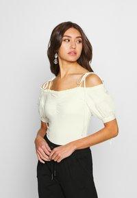 Lost Ink - OFF THE SHOULDER BODY - Bluzka - cream - 0