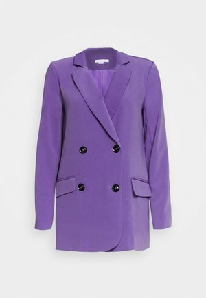 CONTRAST BUTTON - Blazer - purple