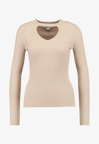 Lost Ink - FRONT CUT OUT - Trui - beige - 3