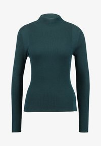 Lost Ink - CONTRAST ROLL NECK JUMPER - Jumper - dark green - 4