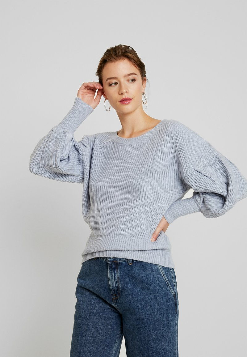 Lost Ink - BALLOON SLEEVE JUMPER - Sweter - light blue