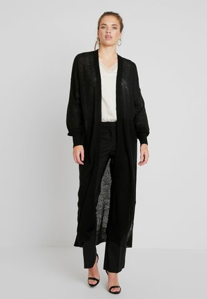 SHEER MAXI CARDIGAN - Vest - black