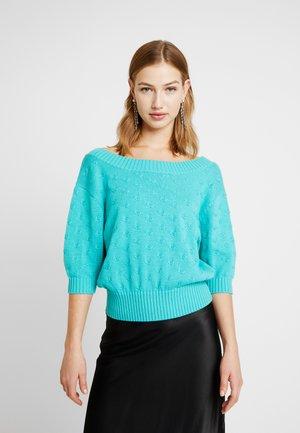 CROP - Jumper - turquoise