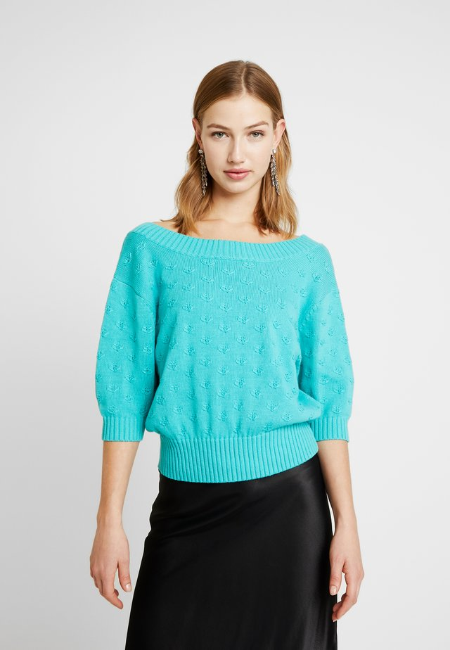 CROP - Neule - turquoise