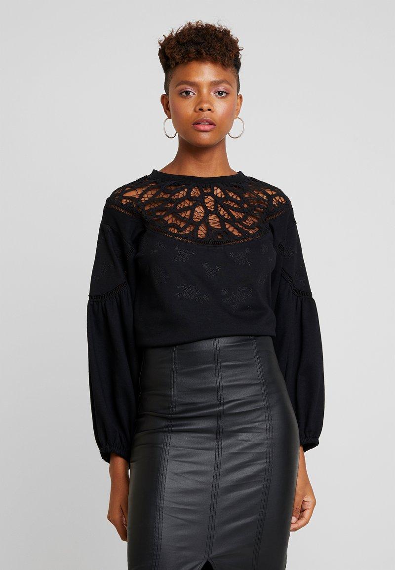 Lost Ink - WITH TRIM - Sweatshirt - black