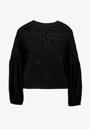 WITH TRIM - Sweatshirt - black
