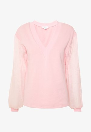 V NECK - Sweatshirt - pink