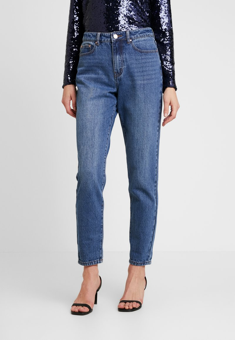 Lost Ink - VINTAGE MOM IN COCOA - Relaxed fit jeans - mid denim