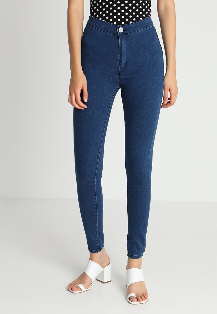Lost Ink - HIGH WAIST - Jeans Skinny Fit - mid denim