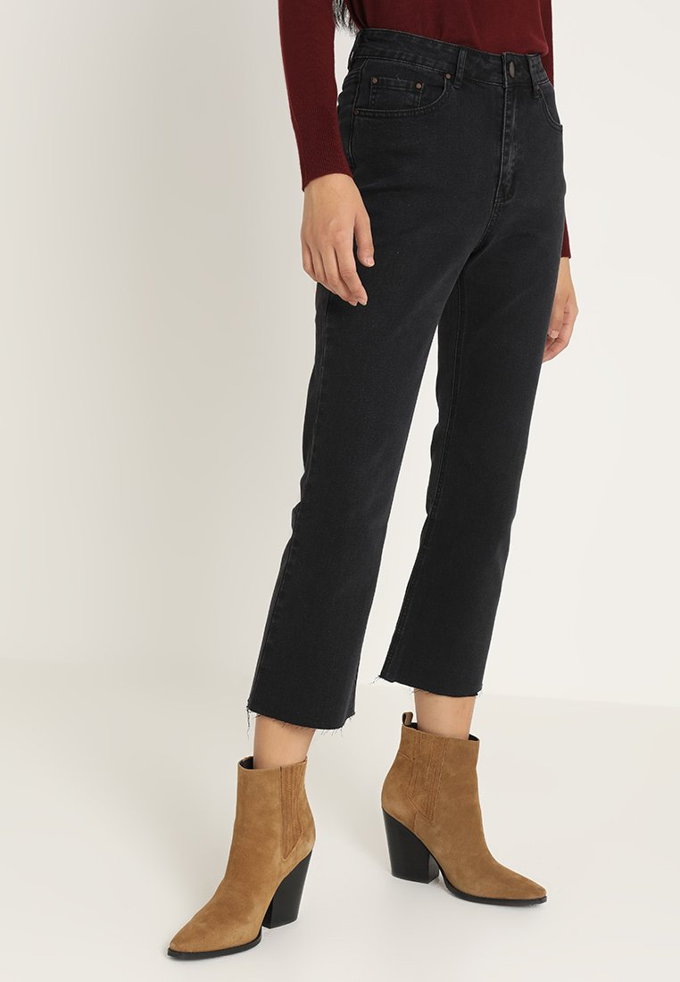 Lost Ink - Flared jeans - washed black