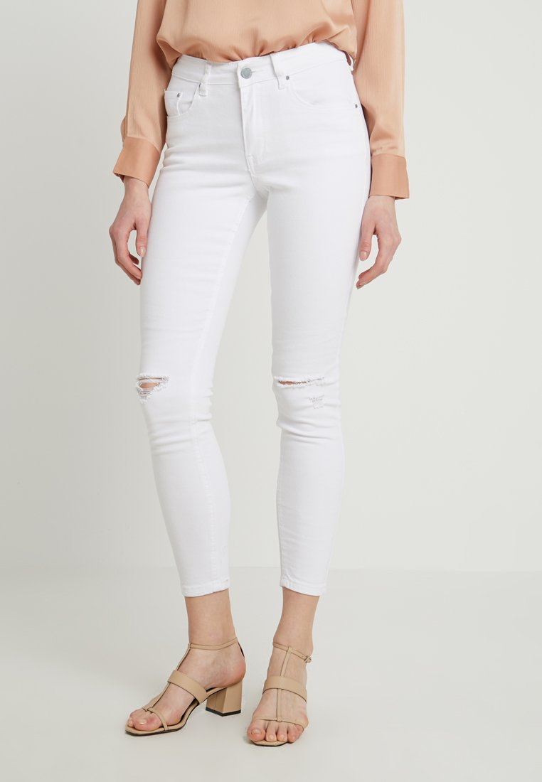 Lost Ink - MID RISE RIP - Jeans Skinny Fit - white