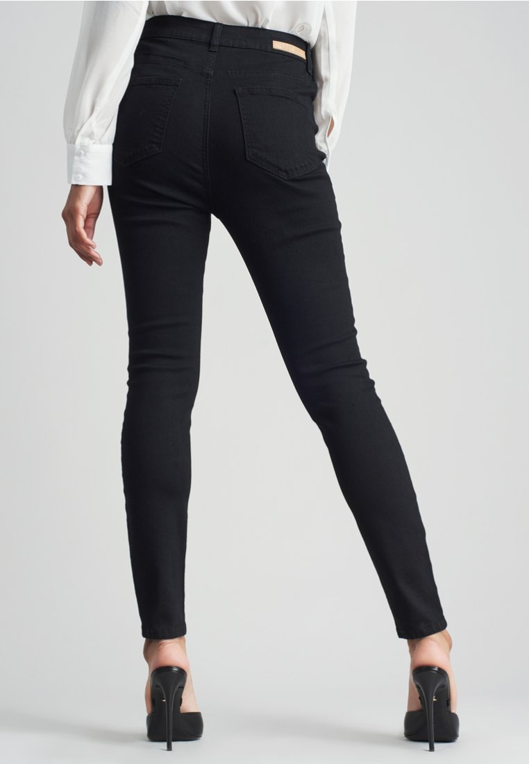 Lost Ink SUPER HIGH WAIST - Jeansy Skinny Fit - black