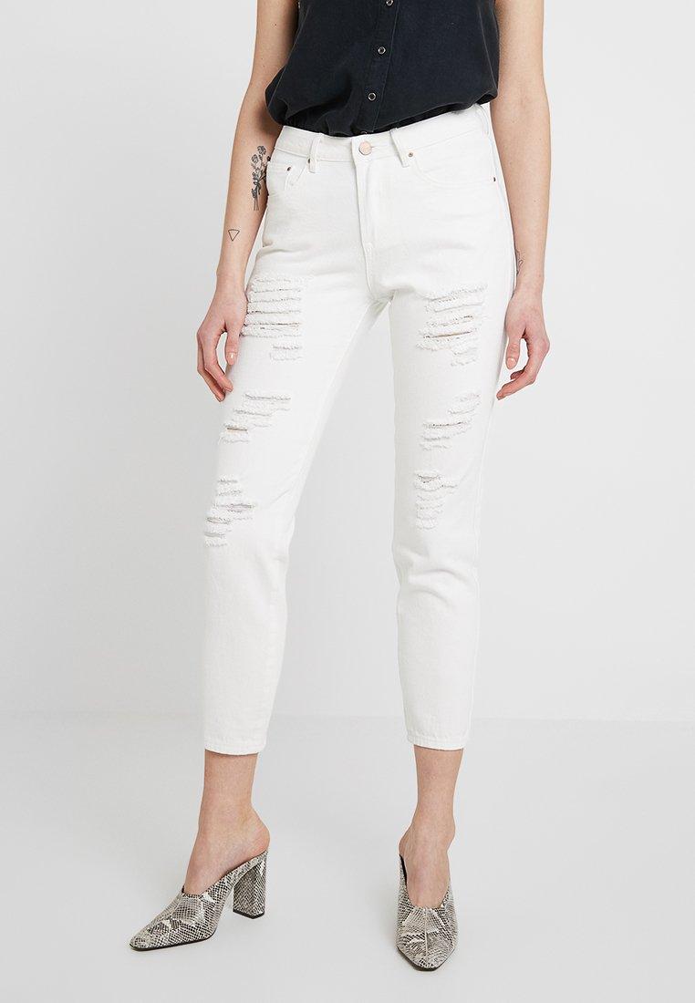 Lost Ink - BOYFRIEND EXTREME - Jeans slim fit - white