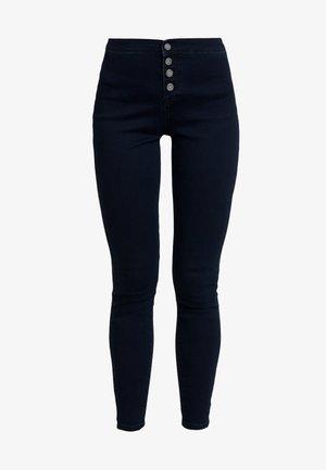 MID RISE BUTTON FRONT - Jeans Skinny - dark denim
