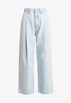 PLEAT FRONT TAPERED WIDE LEG - Jeans baggy - light denim