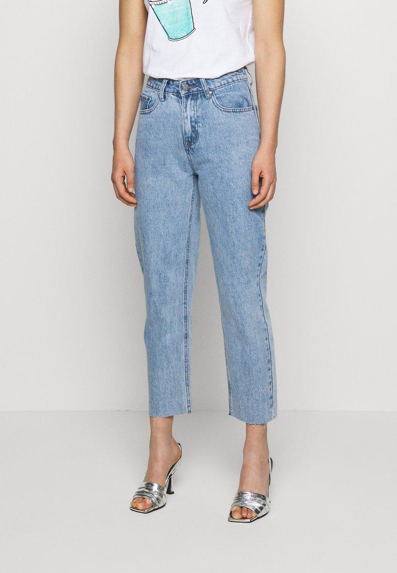 Lost Ink - STRAIGHT WINTER ICE - Straight leg jeans - light denim