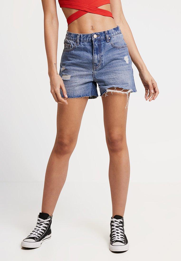 Lost Ink - MOM CAPITAL - Denim shorts - blue denim