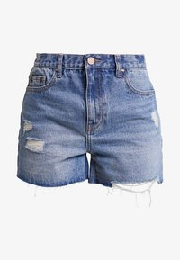 Lost Ink - MOM CAPITAL - Shorts vaqueros - blue denim - 3