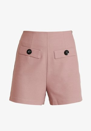 WITH BUTTON TAB POCKET - Kraťasy - pink