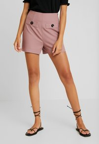 Lost Ink - WITH BUTTON TAB POCKET - Shorts - pink - 0