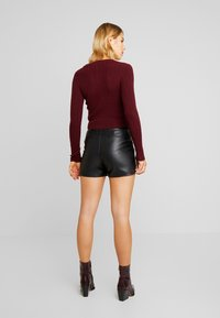 Lost Ink - BUTTON FRONT - Shorts - black - 2