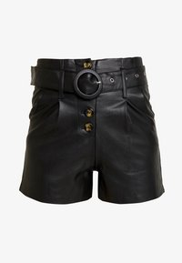 Lost Ink - BUTTON FRONT - Shorts - black - 3