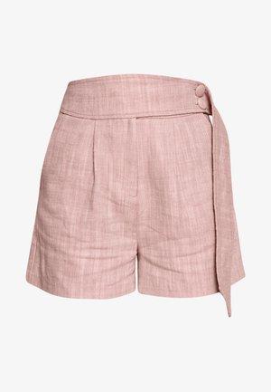 BUTTON WAISTBAND DETAIL - Shorts - pink