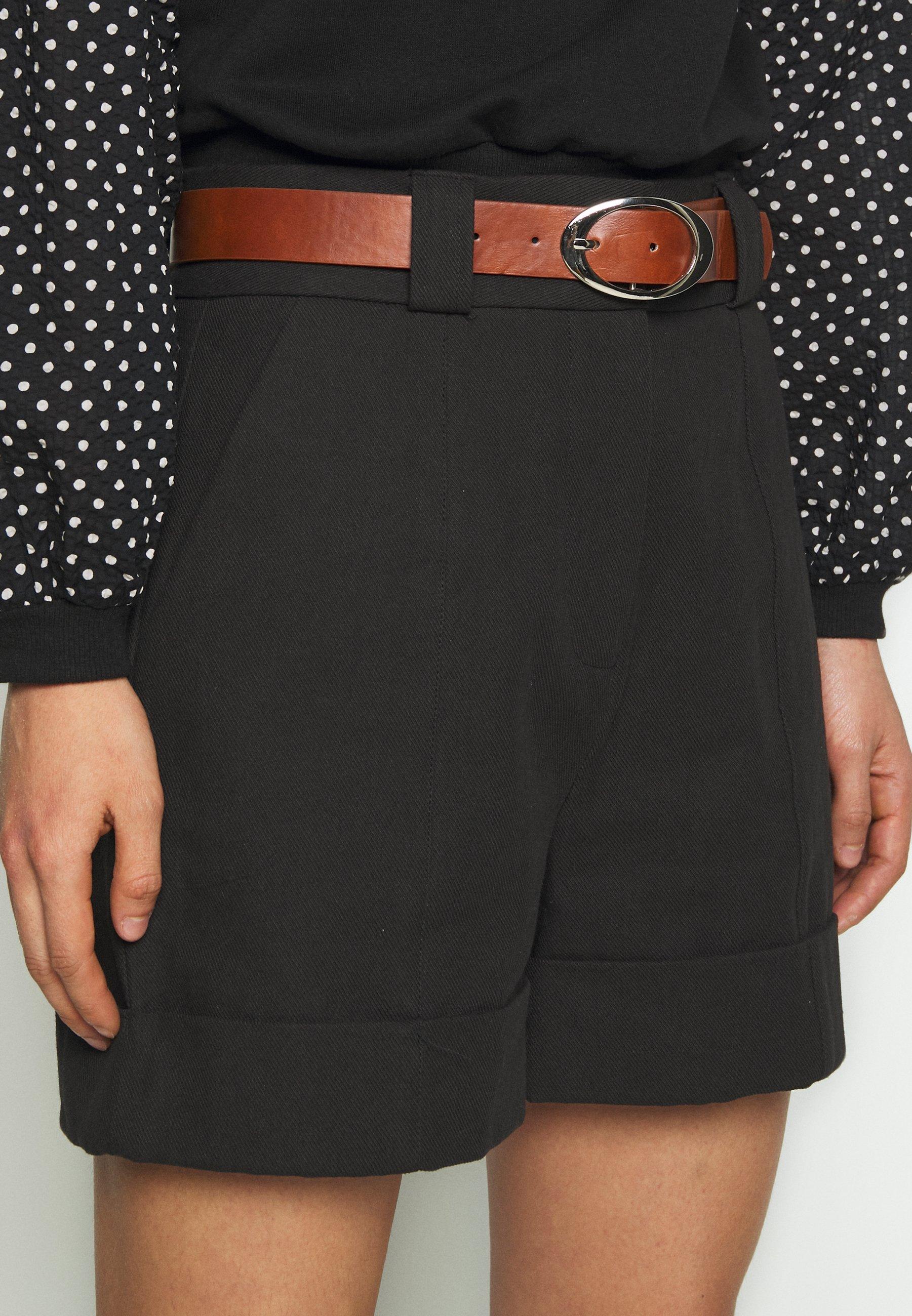 Lost Ink Belted Mini - Short Black