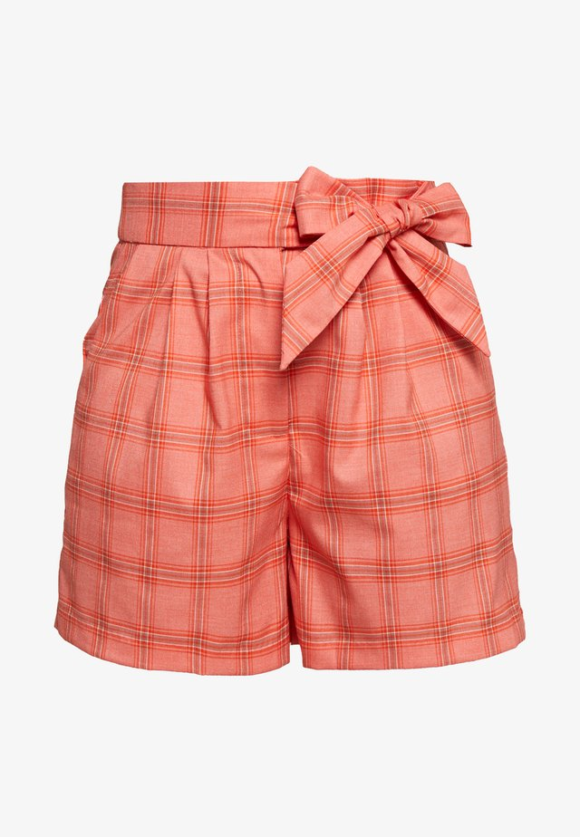 TAILORED TIE WAIST SHORT - Shorts - orange