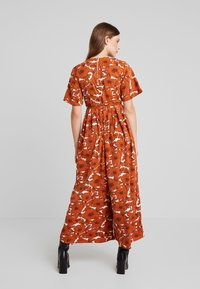 Lost Ink - WITH WIDE LEG IN FLORAL - Jumpsuit - multi orange - 2