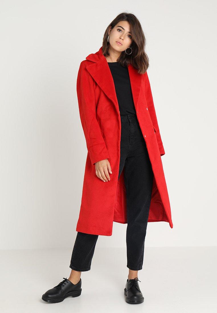Lost Ink - BELTED LONGLINE CLASSIC COAT - Frakker / klassisk frakker - bright red