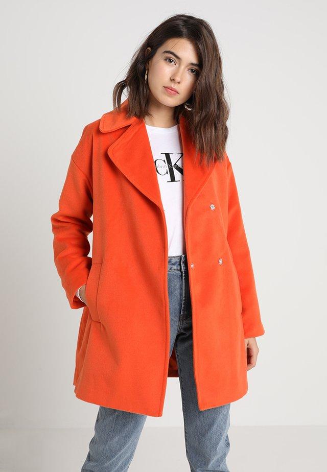 COCOON COAT IN COLOUR POP - Płaszcz wełniany /Płaszcz klasyczny - orange