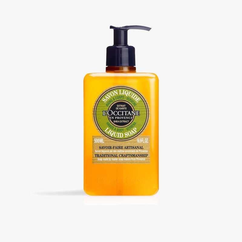 L'OCCITANE - SHEA VERBENA HANDS & BODY LIQUID SOAP - Liquid soap - -