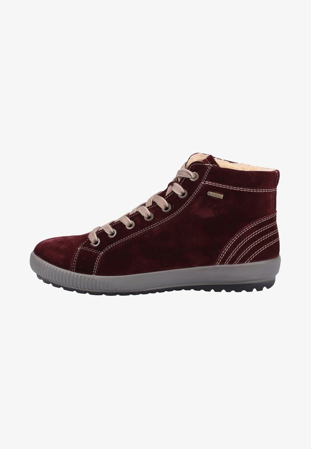 Lace-up ankle boots - amarone rot
