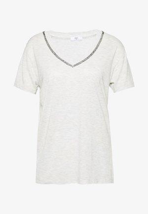 AYAN - T-shirts med print - light grey melange