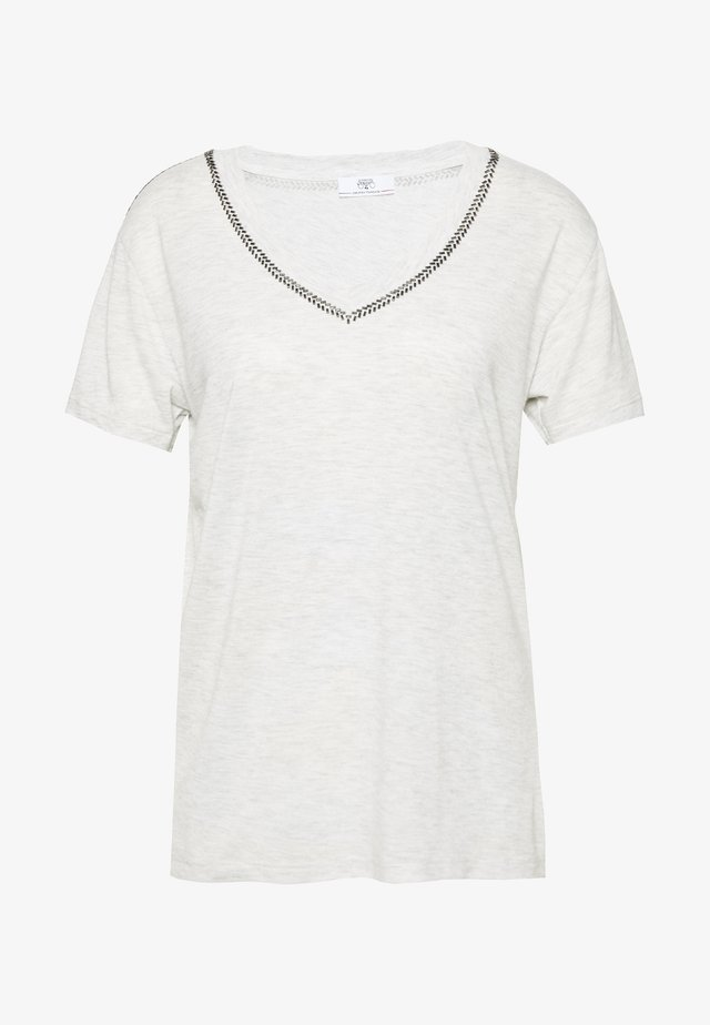 AYAN - T-shirt med print - light grey melange