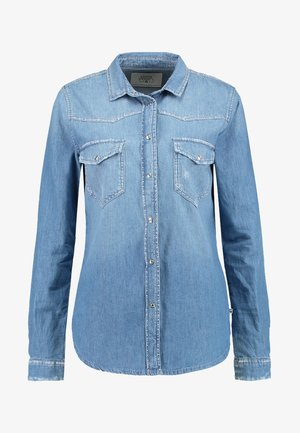 SOLIS - Button-down blouse - medium blue denim