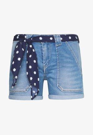 BLOOM - Denim shorts - blue