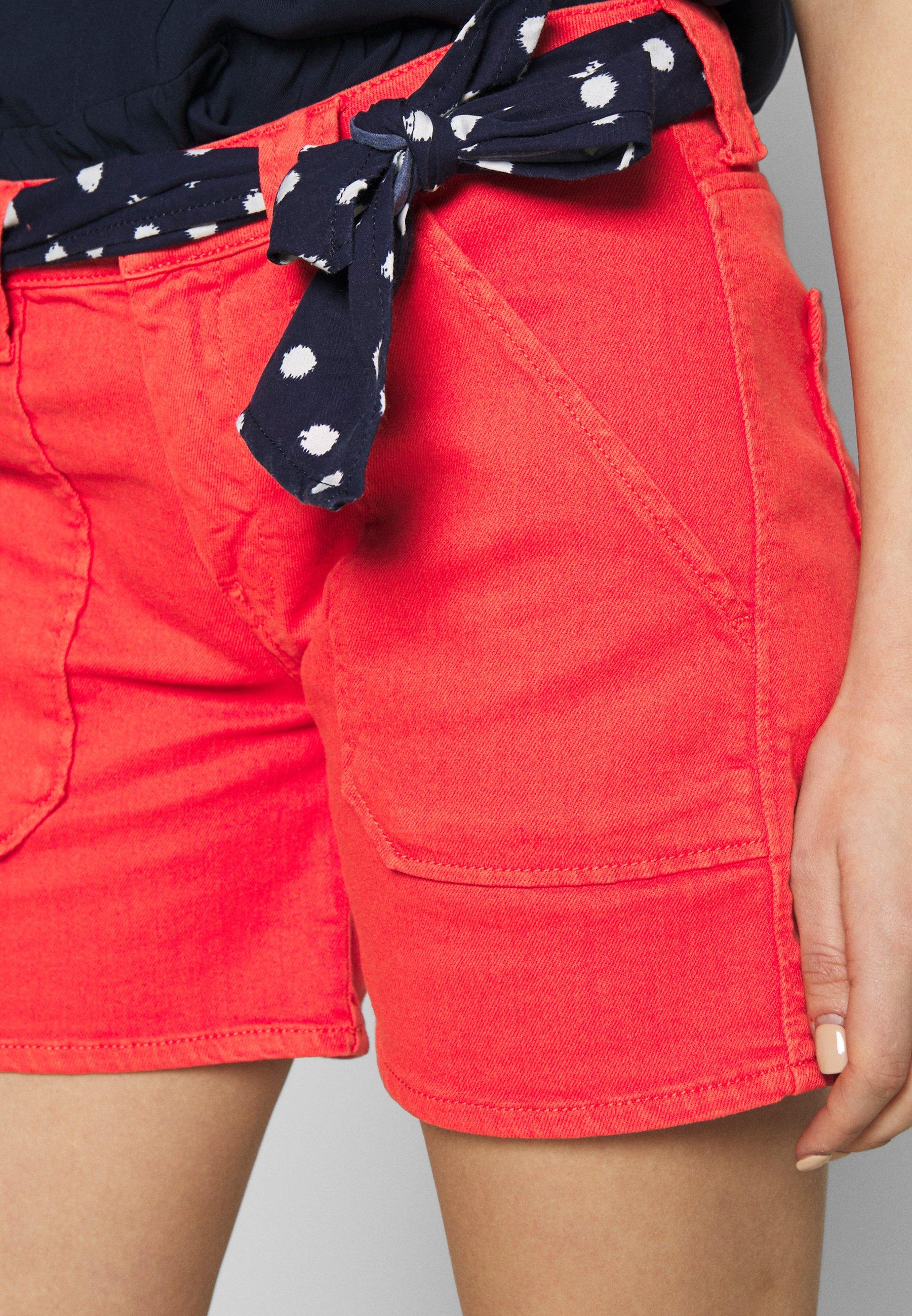 Le Temps Des Cerises OLSEN - Szorty jeansowe - red