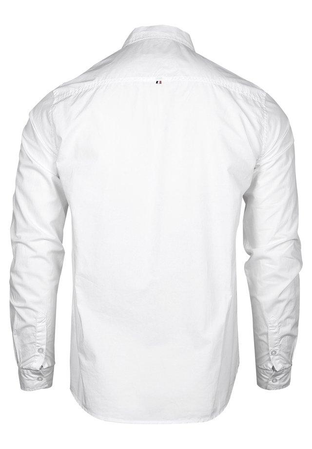 MIT KONTRASTFARBENER STICKEREI - Formal shirt - white