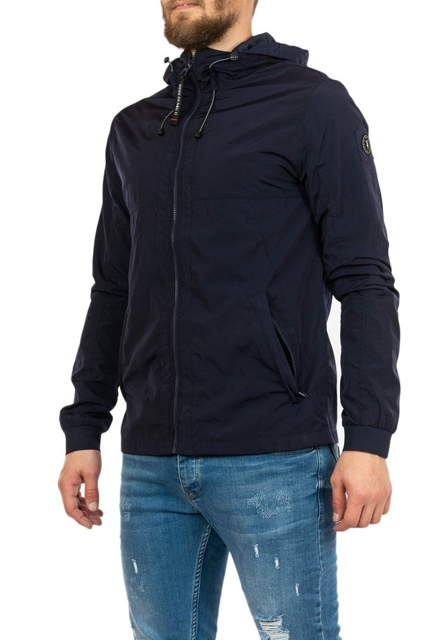 veste en sweat zippée - bleu
