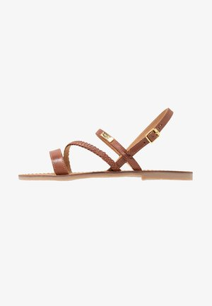 BATRESS - Sandaalit nilkkaremmillä - tan