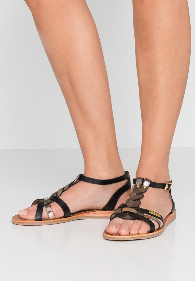 HAMS - Sandals - black/multicolor