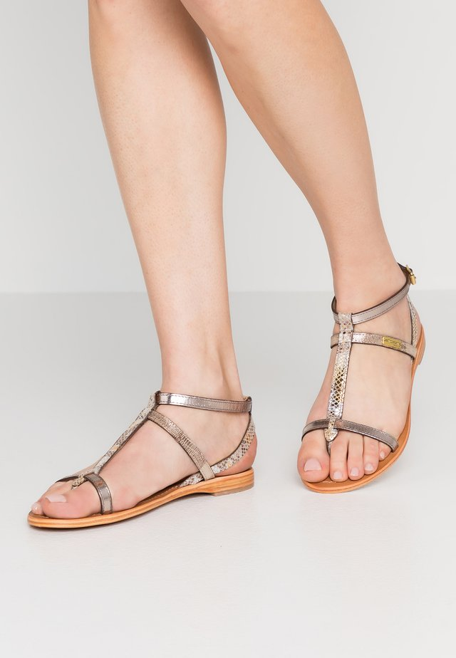 BAIE - T-bar sandals - beige